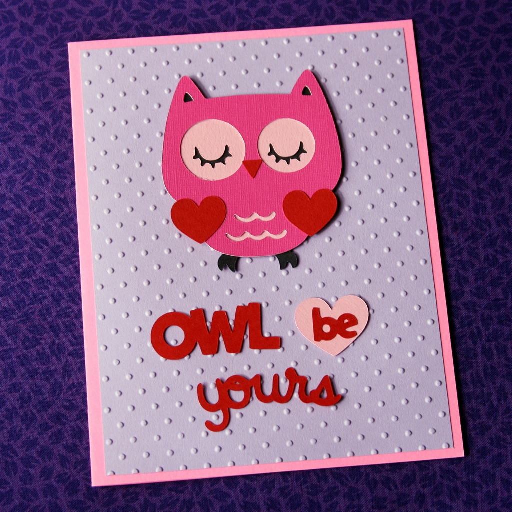 Owl Be Yours Valentine at ThinkCrafts.com