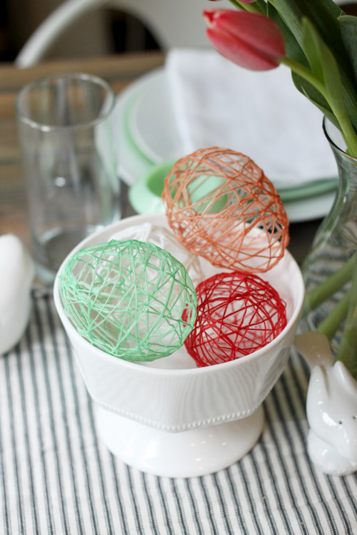 Hollow String Eggs at ThinkCrafts.com