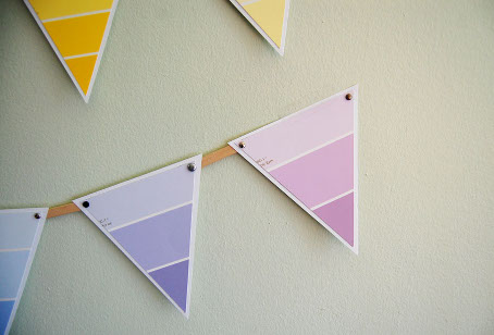 DIY Paint Chip Bunting