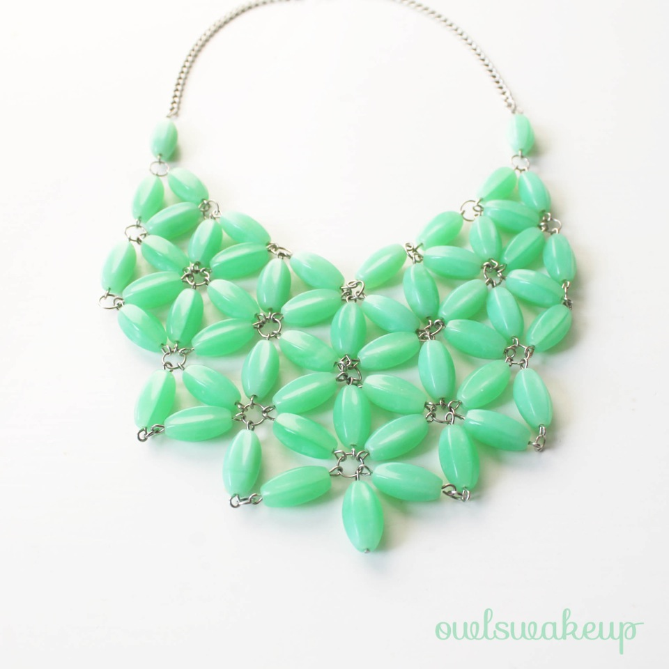 DIY your own high fashion statement necklace.