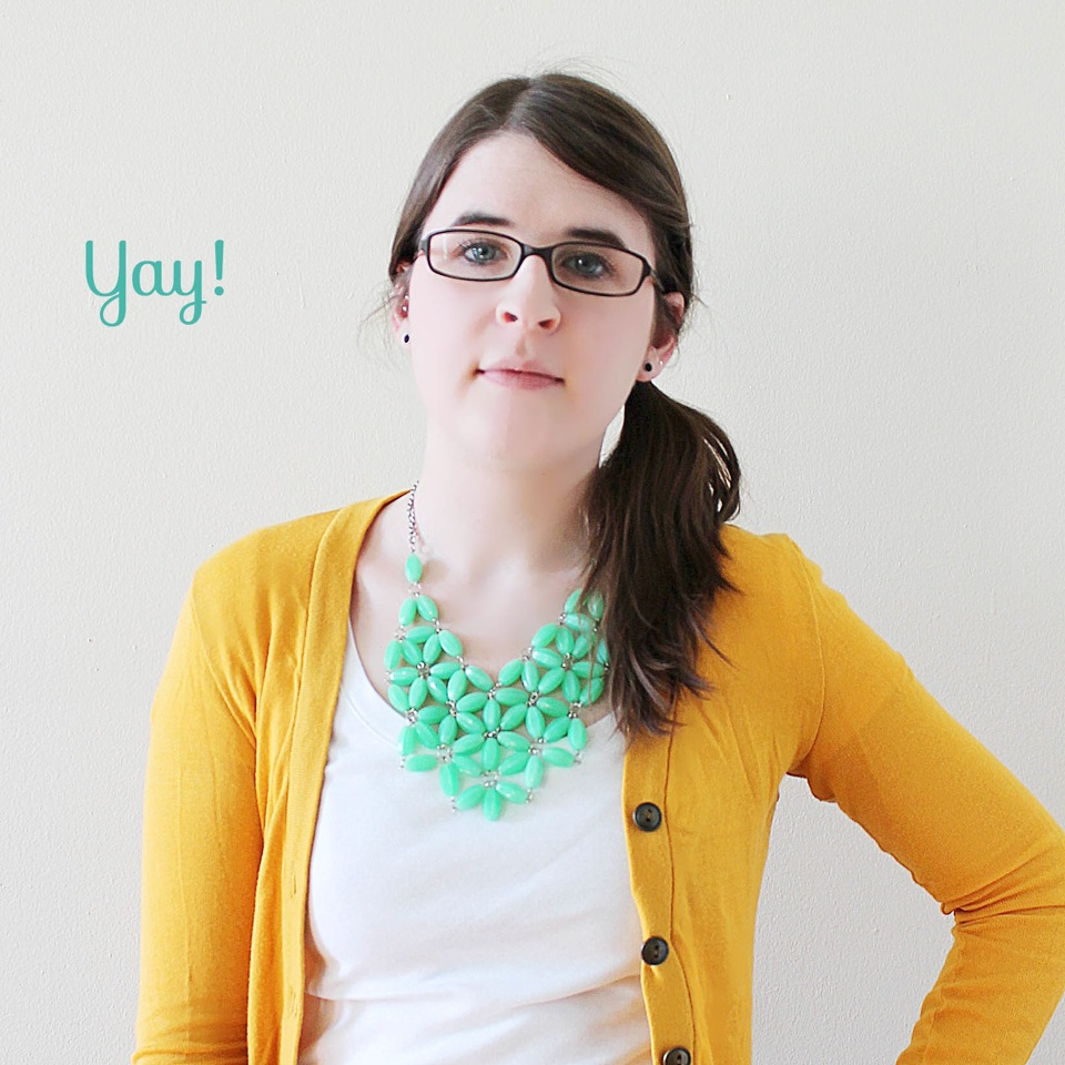 DIY J. Crew Inspired Necklace at ThinkCrafts.com