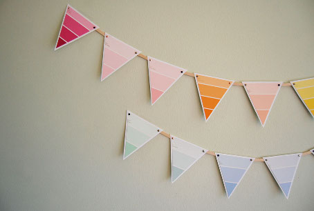 Paint Chip Bunting Garland