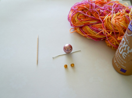 Knitter's Necklace Materials