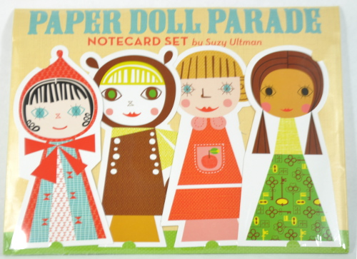 8 Paper doll designs with matching envelopes and stickers
