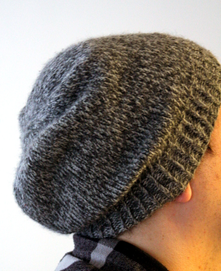 Slouchy Hat Knitting Patterns : Easy Slouchy Unisex Beanie - Think Crafts by CreateForLess