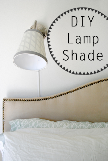 Tips for recovering lamp shades at ThinkCrafts.com