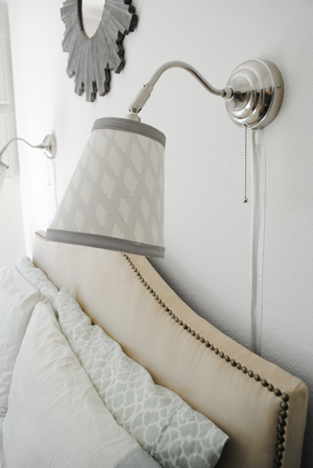 An easy lamp shade redo from ThinkCrafts.com