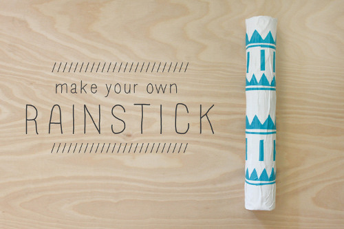 Make your own rainstick think crafts by createforless for Easy rain stick craft