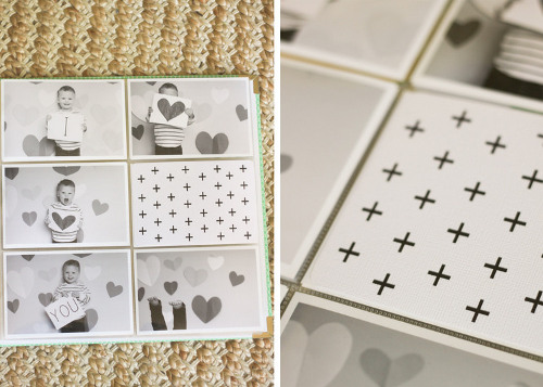 Black and White Layout - Photos and Cards