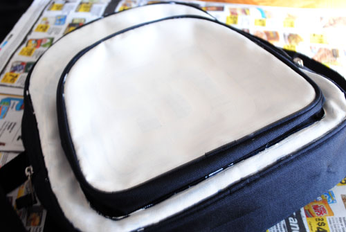 3-painting backpack white