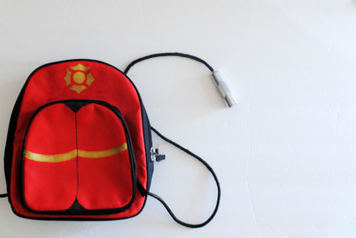 DIY Fire Hose Backpack - Tutorial at ThinkCrafts.com