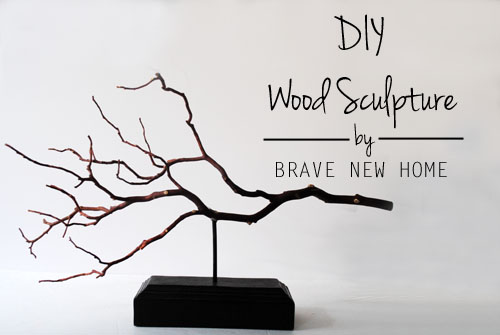 DIY Wood Sculpture with easy tutorial at ThinkCrafts.com