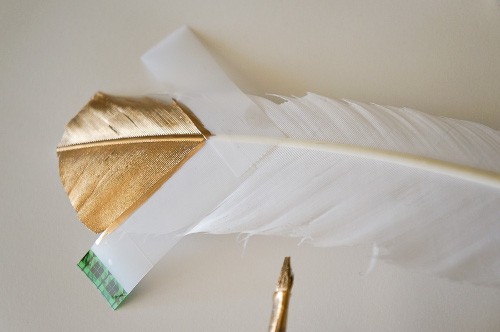 Tape off a Golden Feather