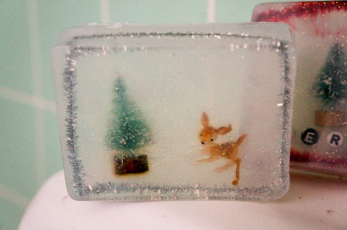 Winter Scene Soaps for Holiday Visitors