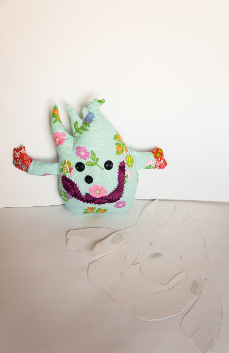 Turn your child's drawing into a monster stuffie!