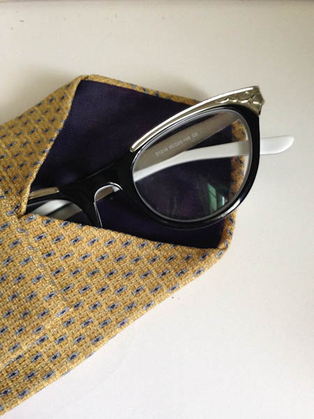 DIY Glasses Case from a Tie - No Sew and Super Easy!