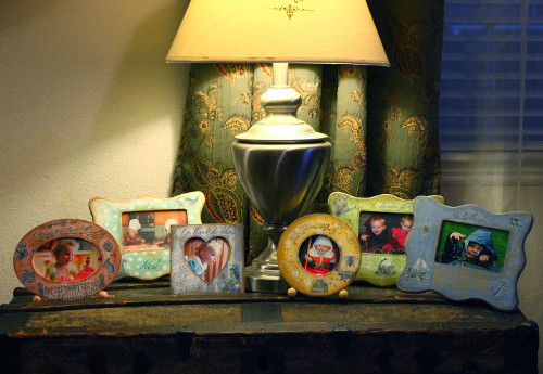 Shabby Chic Picture Frames with Transferred Images