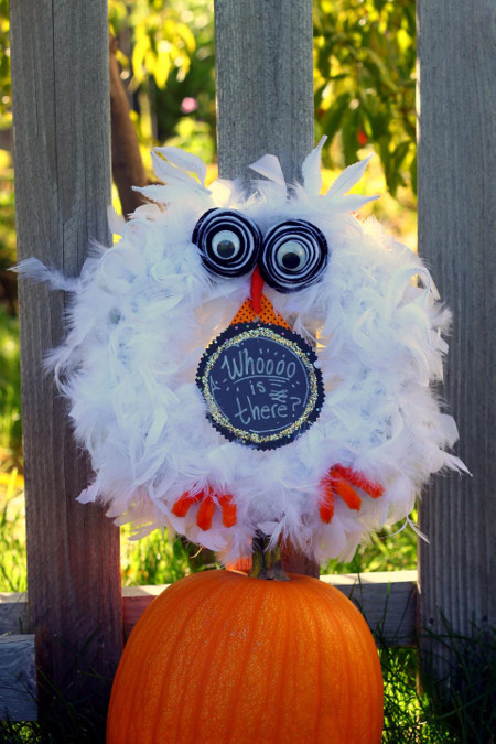 Whoot Owl Wreath - Think Crafts