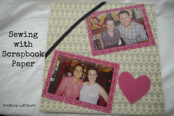 Create a new look in your scrapbooking with a sewing machine!