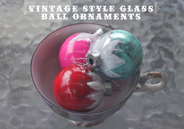 Vintage Style Glass Ball Ornaments