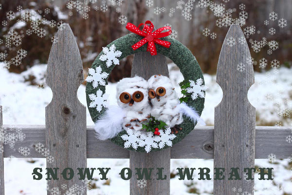 DIY your own snowy owl wreath - perfect way to decorate your door even after the holidays!