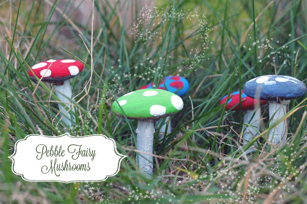 Create little mushrooms for your fairy garden with a DIY tutorial for all ages!