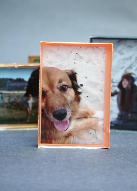 Make a few little frames for your desk or nightstand with an easy and fun tutorial