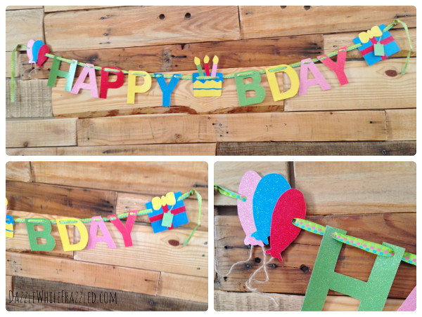 Make a paper banner for your next birthday party with Victoria's tutorial