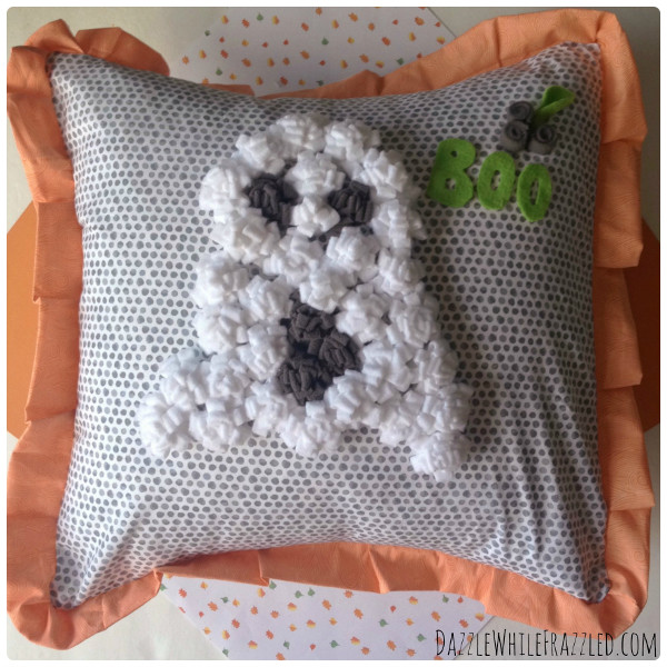 DIY 3D Halloween Fleece Pillow by Victoria of Dazzle While Frazzled