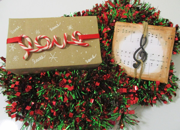 Create personalized holiday wrapping with polymer clay