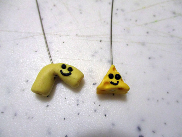 Create Mac and Cheese charms for funky earrings or give one to a friend!