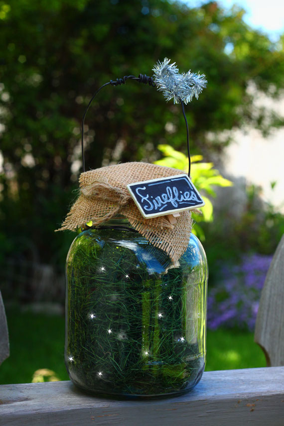 """""""Catch"""" some fireflies in a jar to light up your summer nights."""