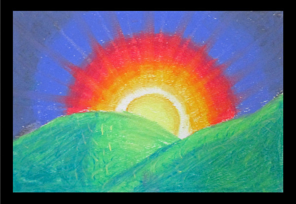 Learn how to make your own sunset drawing with a step by step tutorial