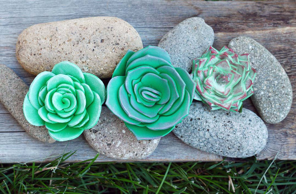 Make your own no-maintainance succulents to decorate your home
